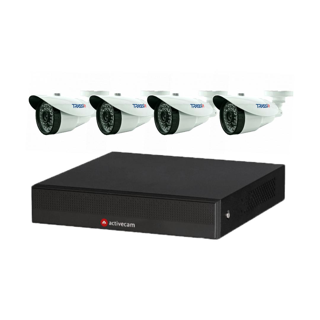 Комплект видеонаблюдения №1 из 4-х камер TRASSIR
