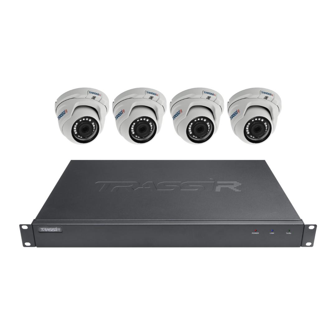 Комплект видеонаблюдения №4 из 4-х камер TRASSIR